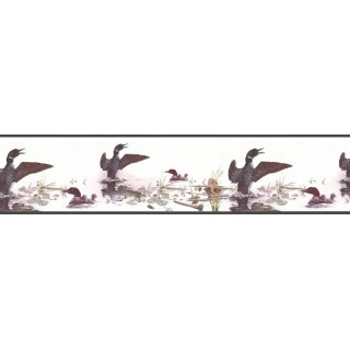 7 in x 15 ft Prepasted Wallpaper Borders - Birds Wall Paper Border B76345