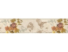 Prepasted Wallpaper Borders - Owl Wall Paper Border B76351