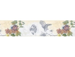 Prepasted Wallpaper Borders - Owl Wall Paper Border B76352