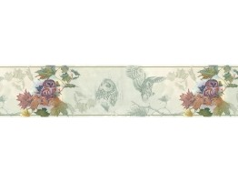 Prepasted Wallpaper Borders - Owl Wall Paper Border B76353