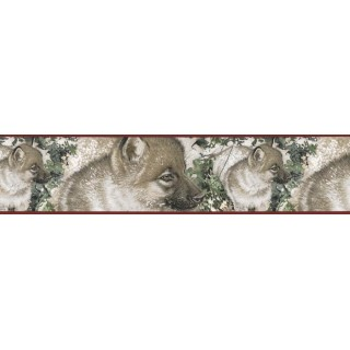 7 in x 15 ft Prepasted Wallpaper Borders - Dogs Wall Paper Border B76356