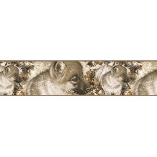 7 in x 15 ft Prepasted Wallpaper Borders - Dogs Wall Paper Border B76357