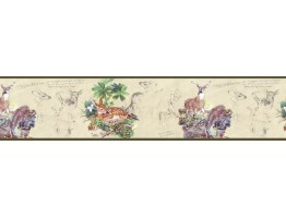 7 in x 15 ft Prepasted Wallpaper Borders - Deers Wall Paper Border B76359