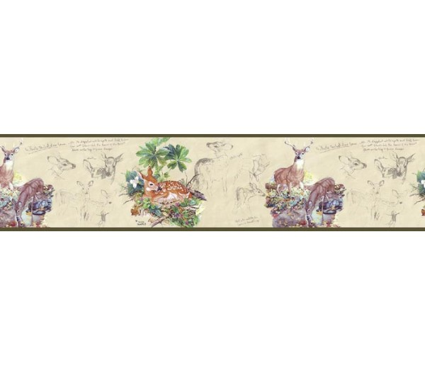 Clearance Deers Wallpaper Border B76359 S.A.MAXWELL CO.