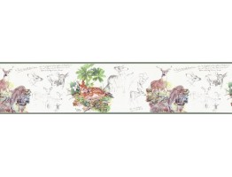 Prepasted Wallpaper Borders - Deers Wall Paper Border B76360