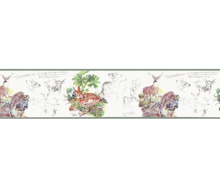 Clearance: Deers Wallpaper Border B76360