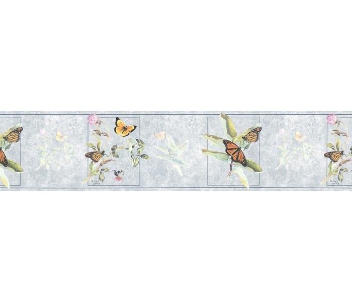 Birds  Wallpaper Borders: Butterfly Wallpaper Border B76366