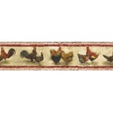 Roosters Wallpaper Borders: Roosters Wallpaper Border SP76453