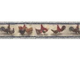 Roosters Wallpaper Border B76454