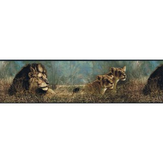 7 in x 15 ft Prepasted Wallpaper Borders - Animals Wall Paper Border B76462