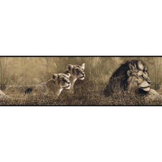 7 in x 15 ft Prepasted Wallpaper Borders - Animals Wall Paper Border B76463