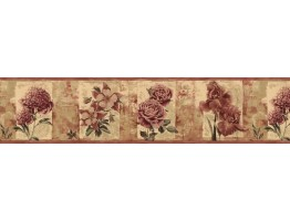 Prepasted Wallpaper Borders - Roses Wall Paper Border B76468