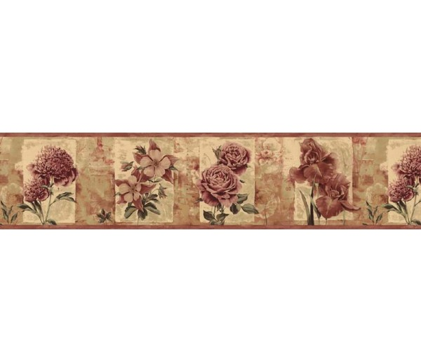 Floral Wallpaper Borders: Roses Wallpaper Border B76468