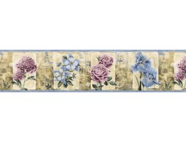 Prepasted Wallpaper Borders - Roses Wall Paper Border B76469