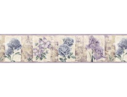 Prepasted Wallpaper Borders - Roses Wall Paper Border B76470