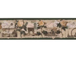 Prepasted Wallpaper Borders - Roses Wall Paper Border B76474