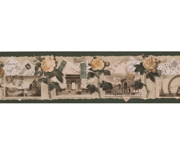 Clearance: Roses Wallpaper Border B76474