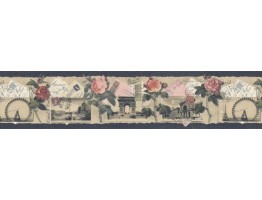 Prepasted Wallpaper Borders - Floral Wall Paper Border SP76475