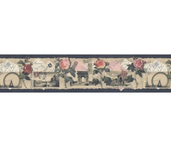 Clearance: Floral Wallpaper Border SP76475