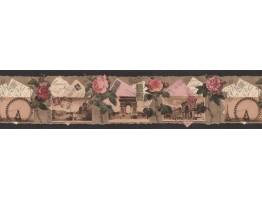 Prepasted Wallpaper Borders - Roses Wall Paper Border B76476