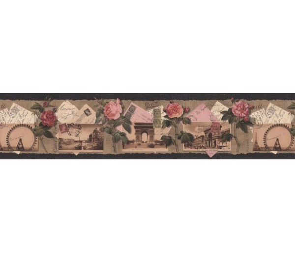 Clearance: Roses Wallpaper Border B76476