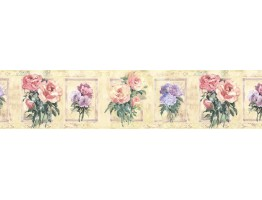 7 in x 15 ft Prepasted Wallpaper Borders - Floral Wall Paper Border SP76483
