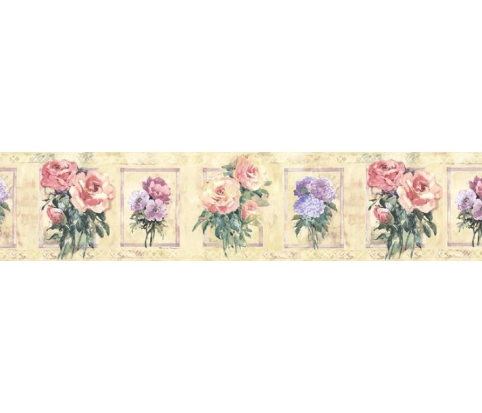 Clearance: Floral Wallpaper Border SP76483