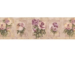 7 in x 15 ft Prepasted Wallpaper Borders - Floral Wall Paper Border SP76484