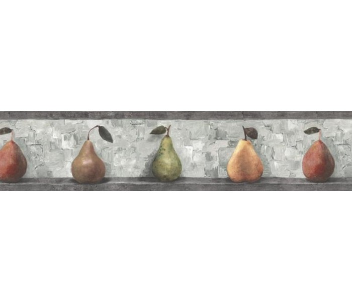 Clearance: Pear Fruits Wallpaper Border SP76487