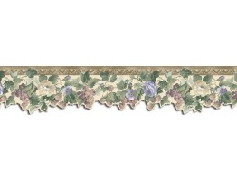 3 1/4 in x 15 ft Prepasted Wallpaper Borders - Floral Wall Paper Border B76586