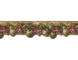7 in x 15 ft Prepasted Wallpaper Borders - Fruits Wall Paper Border B76646DC