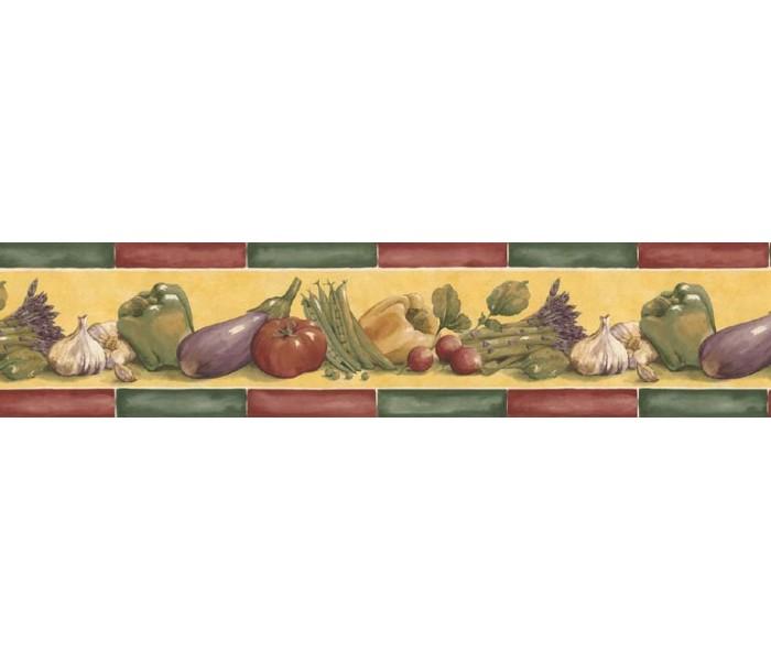 Kitchen Wallpaper Borders: Vegetables Wallpaper Border B76661