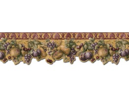 Prepasted Wallpaper Borders - Fruits Wall Paper Border B76664DC