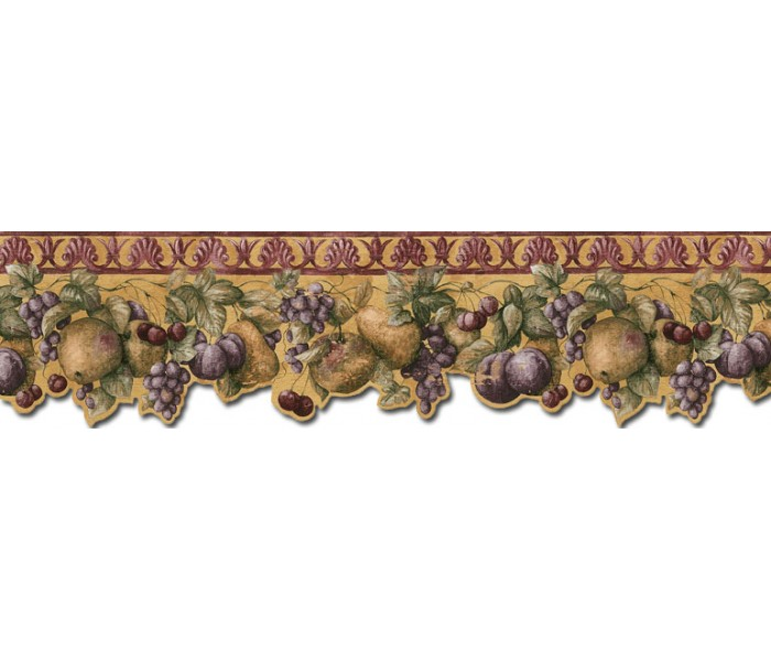 Clearance: Fruits Wallpaper Border B76664DC
