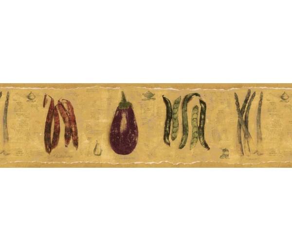 Clearance: Vegetables Wallpaper Border B76674