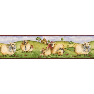 7 in x 15 ft Prepasted Wallpaper Borders - Animals Wall Paper Border NC76753