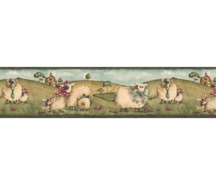 Clearance: Animals Wallpaper Border NC76754