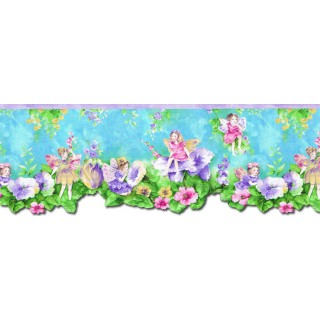 9 1/4 in x 15 ft Prepasted Wallpaper Borders - Angels Wall Paper Border NGB76797DC