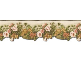 Prepasted Wallpaper Borders - Floral Wall Paper Border WD76823DC
