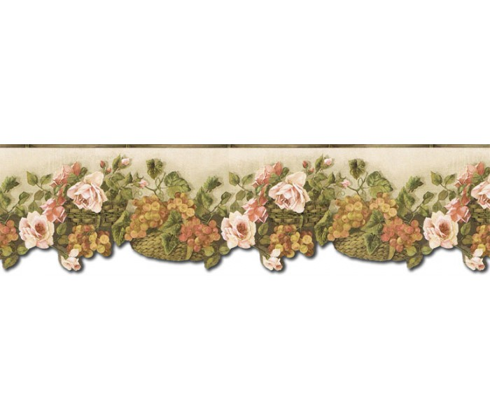 Clearance: Floral Wallpaper Border WD76823DC
