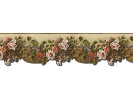Prepasted Wallpaper Borders - Floral Wall Paper Border WD76825DC