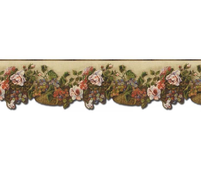 Garden Wallpaper Borders: Floral Wallpaper Border WD76825DC
