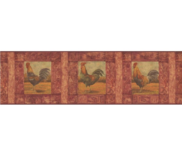 Clearance: Roosters Wallpaper Border WD76841