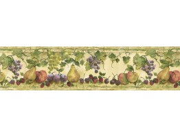 7 in x 15 ft Prepasted Wallpaper Borders - Fruits Wall Paper Border KS76883