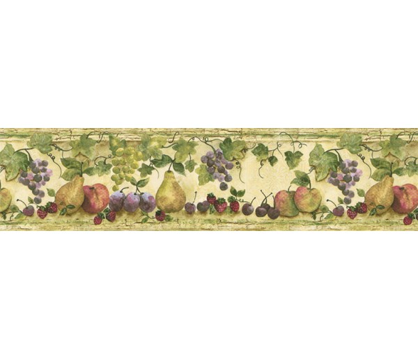 Clearance: Fruits Wallpaper Border KS76883