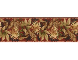 Prepasted Wallpaper Borders - Leafs Wall Paper Border KS76888