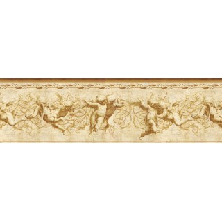 8 1/4 in x 15 ft Prepasted Wallpaper Borders - Angels Wall Paper Border NB76940