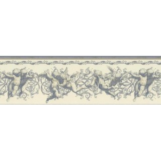 8 5/16 in x 15 ft Prepasted Wallpaper Borders - Angels Wall Paper Border NB76941