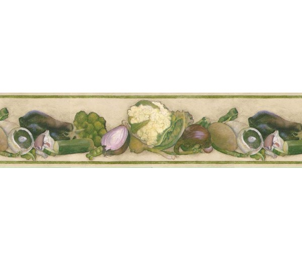 Kitchen Wallpaper Borders: Vegetables Wallpaper Border B76973