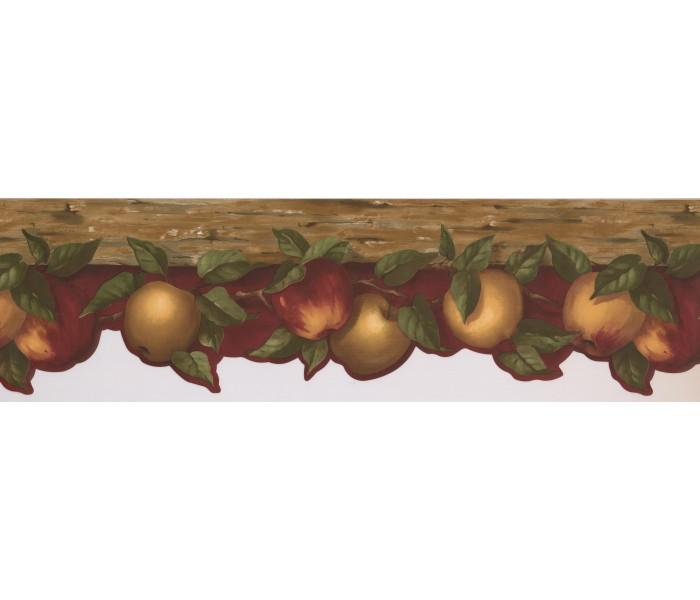 Garden Wallpaper Borders: Apple Fruits Wallpaper Border KL76981DC